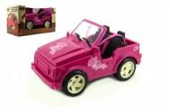 Auto pro panenky růžové plast 30cm v krabici
