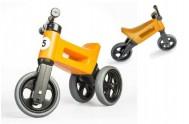 Odrážedlo FUNNY WHEELS NEW SPORT 2v1 oranžové výška sedadla nastavitelná 27/30cm nosnost 50kg 18m+