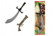 Meč pirát + kolt klapací plast 58cm na kartě