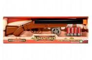 Pistole kovbojská s náboji plast 47cm na baterie se zvukem v krabici