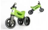 Odrážedlo FUNNY WHEELS NEW SPORT 2v1 zelené výška sedadla nastavitelná 27/30cm nosnost 50kg 18m+