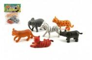 Zvířátka safari plast 6ks v sáčku 14x18x3cm