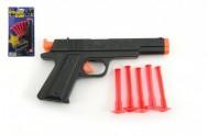 Pistole na přísavky plast 16cm na kartě