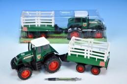 Traktor s vlečkou plast 43cm v krabici - Teddies s.r.o