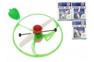 Létající UFO 15cm se senzorem ovladačem a USB nabíjecím kabelem asst 4 barvy v krabičce