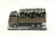 Auto nákladní vojenské plast 29cm na setrvačník v blistru