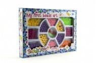 Korálky plast 0,5cm (1 krabice) 2 barvy 26x18cm