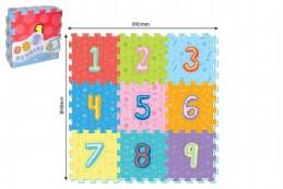 Pěnové puzzle číslice 9ks 32x32cm 10m+ - Rock David