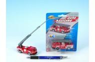 Auto hasiči kov/plast 7cm na kartě