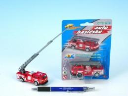 Auto hasiči kov/plast 7cm na kartě - Teddies s.r.o