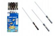 Meč svítící plast 72cm na baterie měnící zvuk dle pohybu se světlem asst 3 barvy
