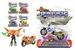 Transformer robot/motorka plast 11cm asst 6 druhů na kartě - Rock David