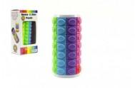 Hlavolam barevný plast 9cm v krabičce