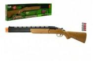 Pistole/Puška lovecká + 4 náboje plast 77cm na baterie v krabici