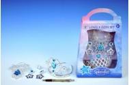 Korunka + náušnice s doplňky plast asst 3 druhy karneval v krabičce