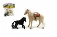 Kůň s hříbětem fliška 2ks 13cm v sáčku