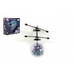 Vrtulníková koule plast 13x11cm s USB kabelem na nabíjení v krabičce