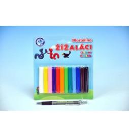 Modelína/Plastelína Žížaláci 12 barev na kartě