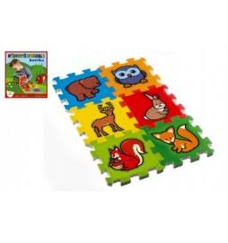 Pěnové puzzle Moje první lesní zvířátka 15x15x1,2cm 6ks MPZ