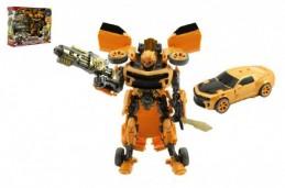 Auto/Transformer žluté plast v krabici 28x23x8cm - Rock David