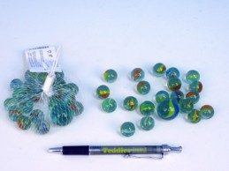 Kuličky skleněné 1,6cm 130g 20+1ks v síťce - Teddies s.r.o