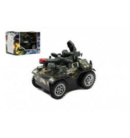 Tank narážecí plast 13cm na baterie se zvukem se světlem v krabičce