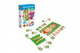 Hra školou® Skládej lidské tělo kreativní a naučná hra v krabici 16x25x5cm 4+ - Rock David