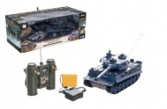 Tank RC plast 33cm TIGER I 27MHz na baterie+dobíjecí pack se zvukem a světlem v krabici 40x15x19cm