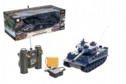 Tank RC plast 33cm TIGER I 27MHz na baterie+dobíjecí pack se zvukem a světlem v krabici 40x15x19cm - Rock David