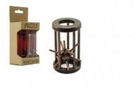 Hlavolam ježek v kleci kov 4,5x7,5cm v krabičce
