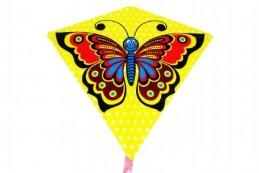 Drak létající motýl plast 68x73cm v sáčku - Rock David