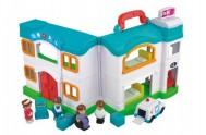 Nemocnice domeček s doplňky plast 12ks v krabici 64x33x12cm