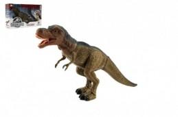 Dinosaurus chodící plast 40cm na baterie se světlem se zvukem v krabici - Rock David