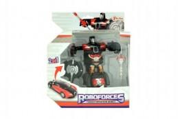 Robot/auto transformer 2v1 plast 10cm v krabičce 17x20x10cm - Rock David