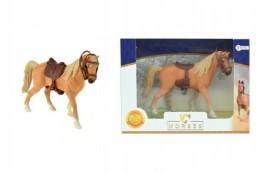 Kůň se sedlem plast 14cm v krabičce 19x14x5cm - Rock David
