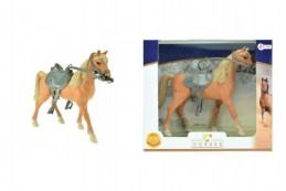 Kůň se sedlem plast 20cm v krabici 26x23x7cm - Rock David
