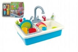 Dřez na mytí nádobí + kohoutek na vodu na baterie 20ks plast 41x28x10cm - Rock David