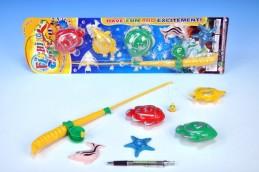 Hra ryby/rybář 5ks+prut 38cm na kartě - Teddies s.r.o