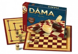 Dáma + mlýn společenská hra v krabici 33x23x4cm - Rock David