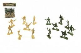 Sada vojáci plast 5cm 2 barvy v sáčku 29x36x8cm - Rock David