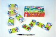 Domino Moje první zvířátka dřevo společenská hra 28ks v krabičce 17x9x3,5cm