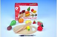 Ovoce krájecí s prkénkem dřevo 17ks 21,5x15x7cm v krabici od 24 měsíců