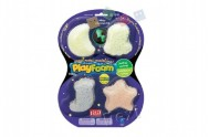 PlayFoam Modelína/Plastelína kuličková svítící ve tmě 4 barvy na kartě 19x26x3cm