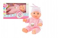 Miminko/panenka plast 22cm pevné tělo v krabici