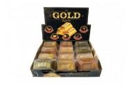 Sliz - hmota zlatá cihlička 9cm 12ks v boxu