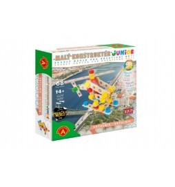 Malý konstruktér junior vrtulník 68 dílků dřevěná stavebnice v krabici 24,5x25x6cm