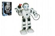 Robot RC FOBOS Bojovník chodící plast 40cm na baterie a USB připojení v krabici 31x44x13cm CZ design