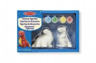 Sada dinosauři 2ks k vymalovaní sádrové odlitky v krabičce 22x15x6cm