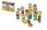 Kuličková dráha dřevo 58ks v krabici 30x20x6cm