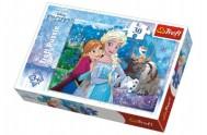 Puzzle Frozen/Ledové království 27x20cm 30 dílků v krabičce 21x14x4cm